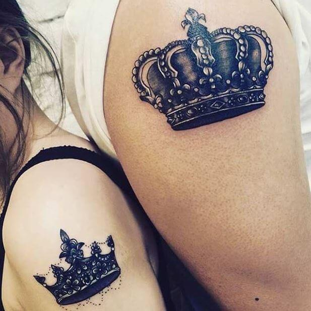 Queen And King Tattoos For Couples