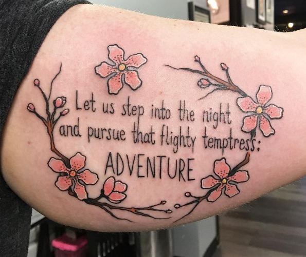 Quotes Tattoos On Inner Biceps