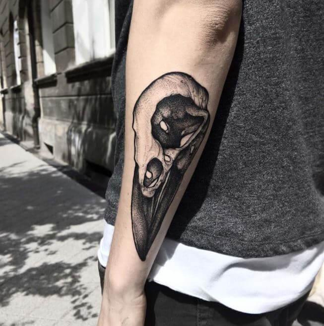 Raven Skull Tattoo