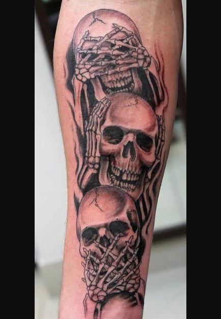 Realism Skull Tattoos