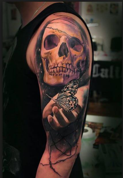 Realistic Skull Tattoos