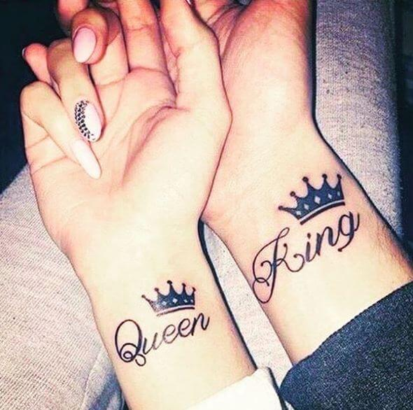 Relationship Tattoos King And Queen