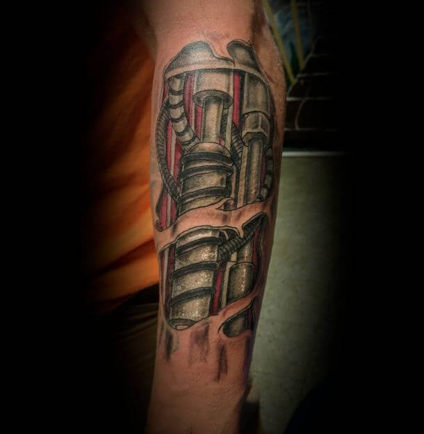 Robot Arm Tattoo