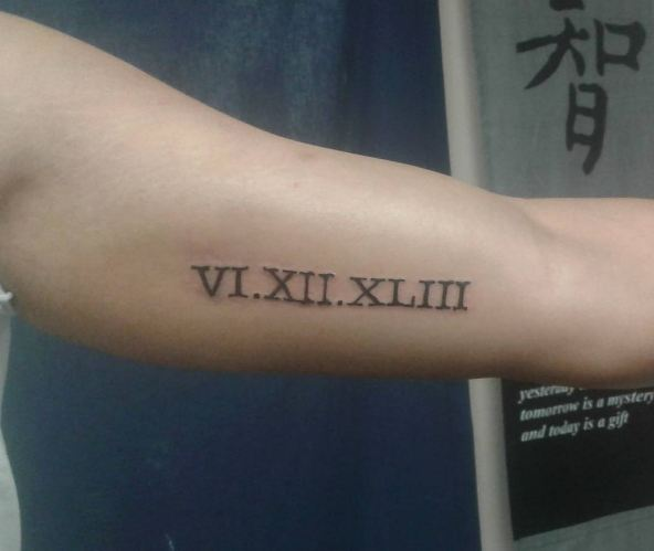 Roman Number Tattoos For Male