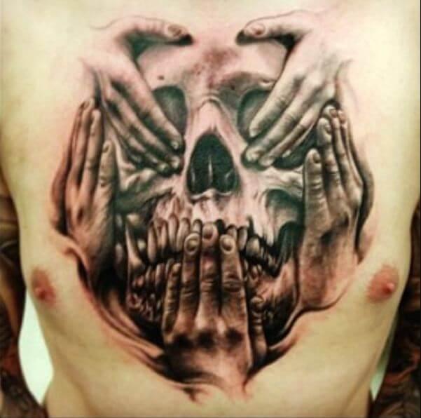 Scary Skull Tattoos