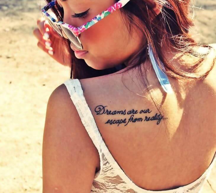 Shoulder Quote Tattoos