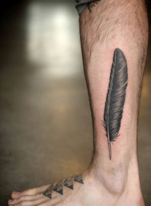 Side Calf Tattoos