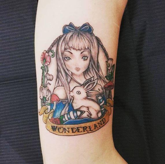 Simple Alice In Wonderland Tattoos