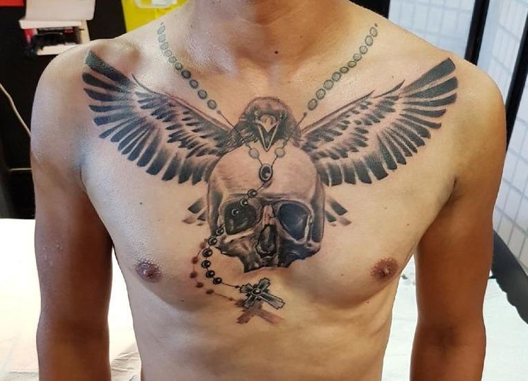 Skull Chest Tattoos