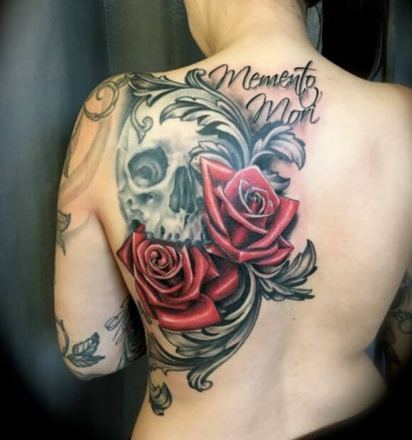 Skull Flower Tattoo (1)