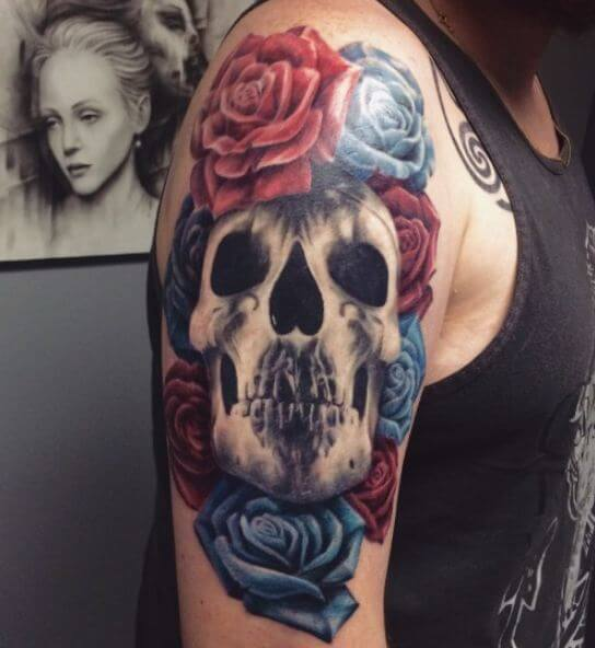 Skull Half Sleeve Tattoo