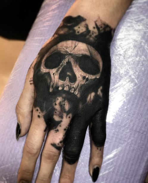 Skull Hand Tattoos