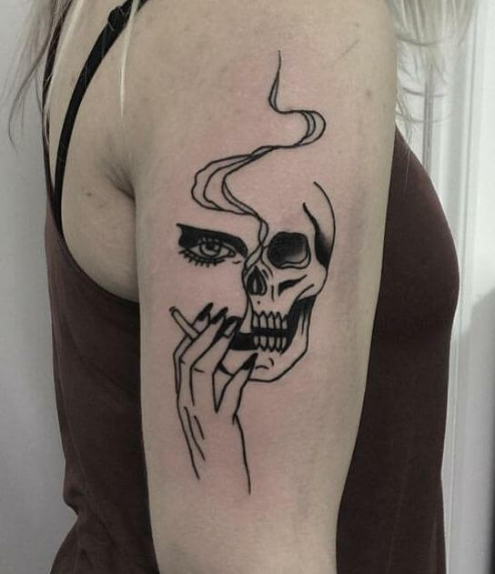 Skull Smoke Tattoo