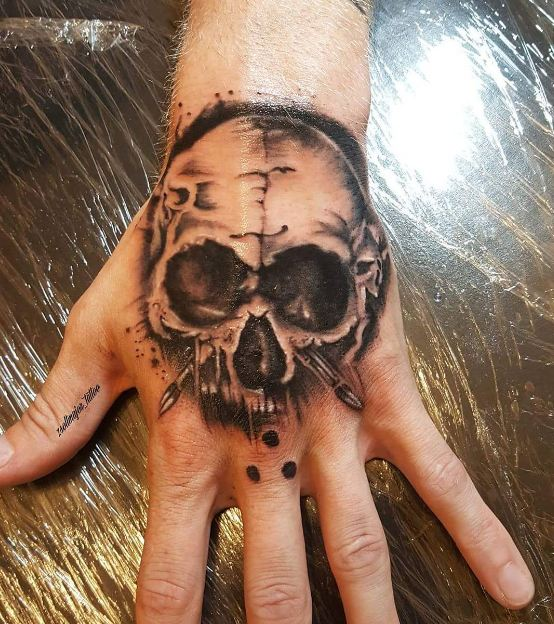 Skull Tattoos On Hand