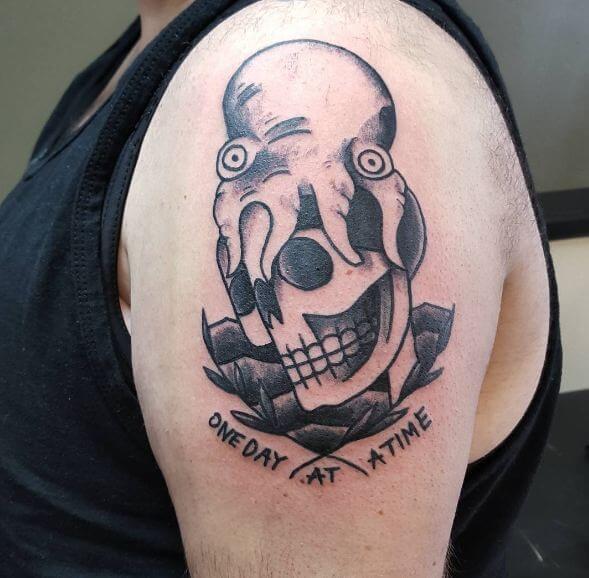 Skull With Octopus Tattoos