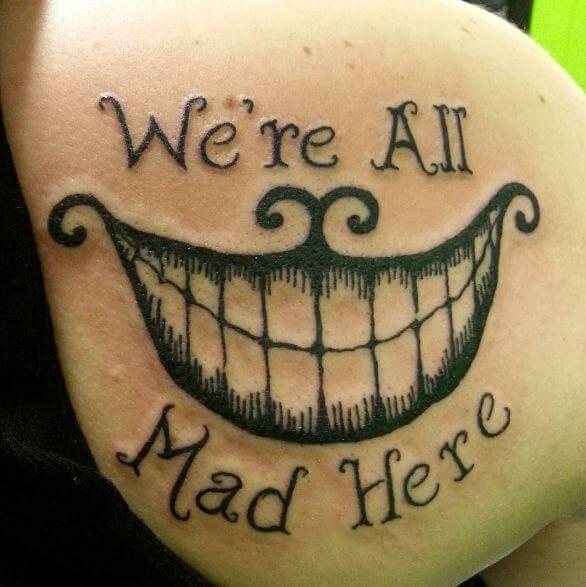 Smile Mad Hatter Alice In Wonderland Tattoos