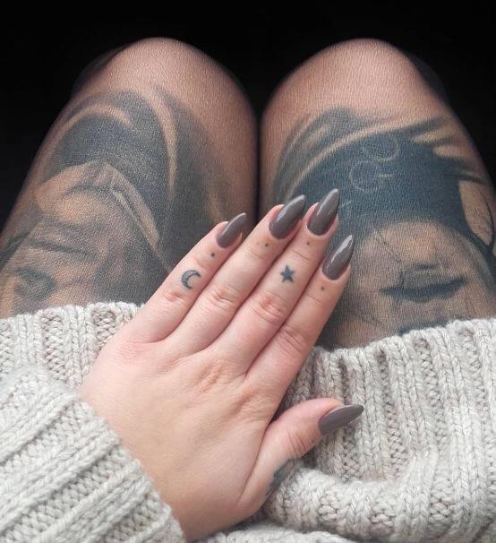 Star Finger Tattoos