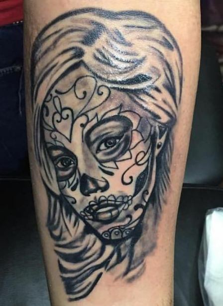 Sugar Skull Face Tattoos