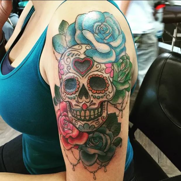 Sugar Skull Tattoos Ideas