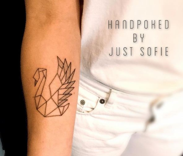 Swan Feminine Tattoos