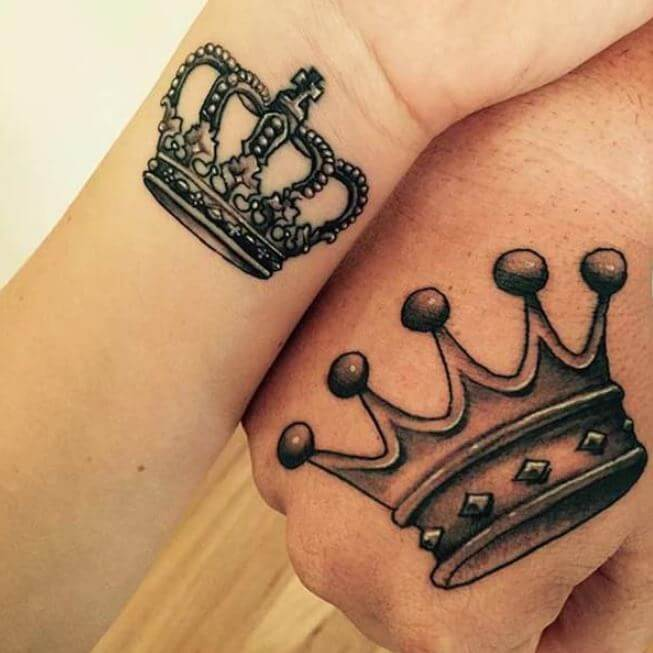 Tattoos For Couples King And Queen