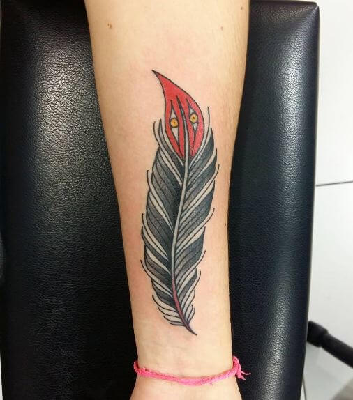 Traditional Feather Tattoos