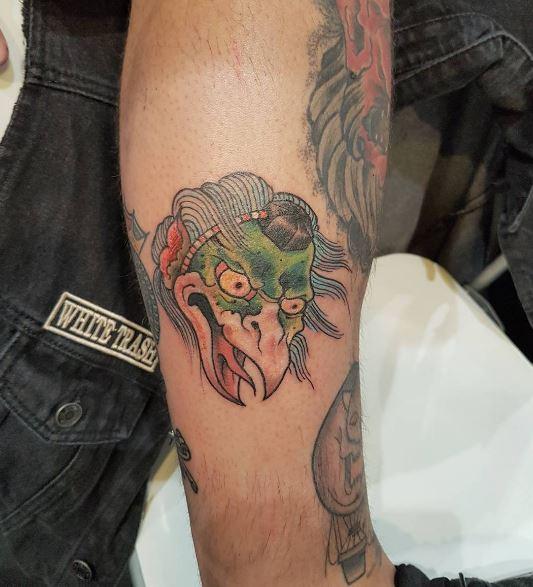 Traditional Leg Tattoos