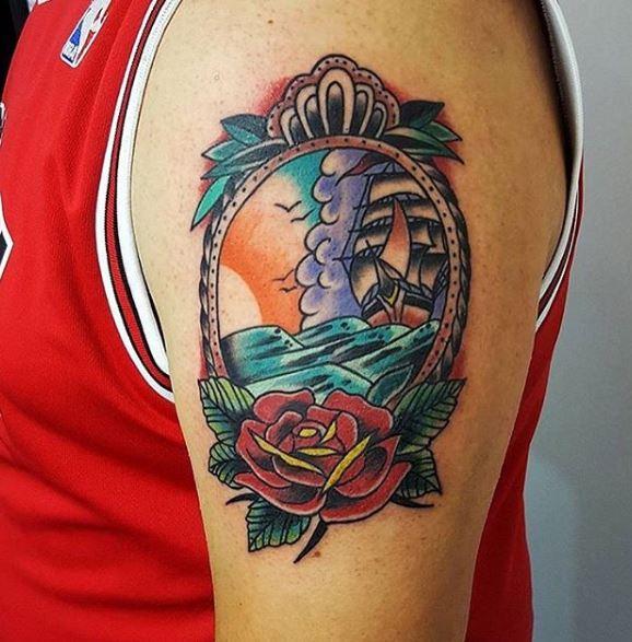 Traditional Ship Tattoos