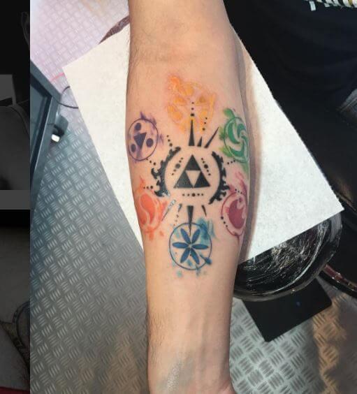 Watercolor Zelda Tattoos