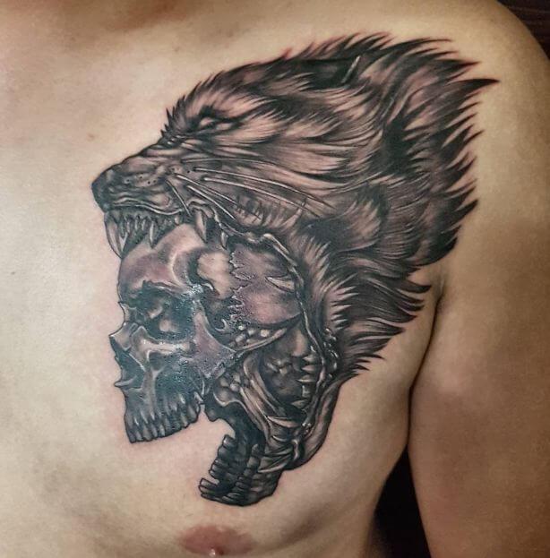 Wolf Skull Tattoo (1)