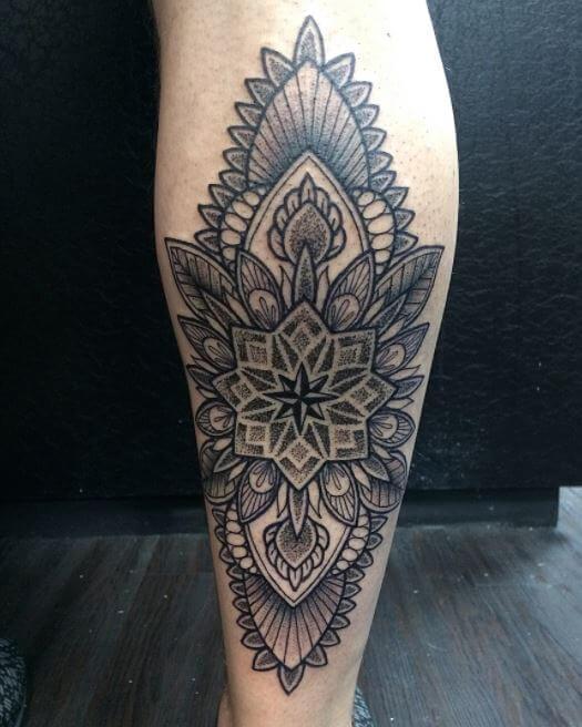 Wrap Around Calf Tattoos