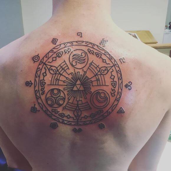 Zelda Tattoos On Back