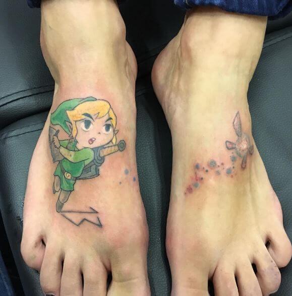 Zelda Tattoos On Foot