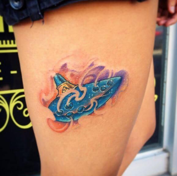 Zelda Tattoos On Thigh