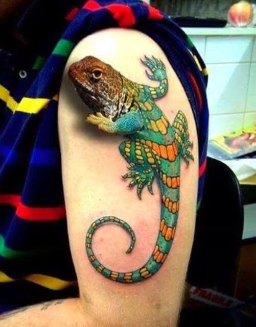 3D Lizard Tattoos