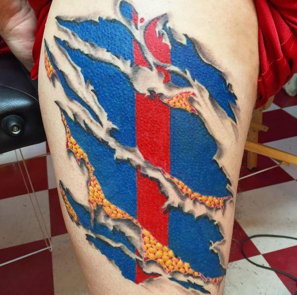 3D Marine Corps Tattoos On Biceps