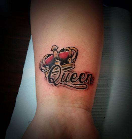 3D Queen Crwon Tattoos Design And Ideas