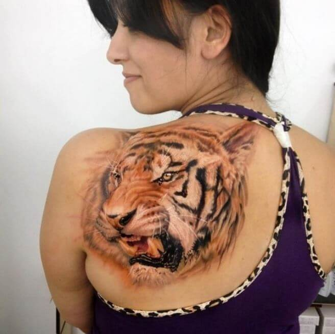 3D Tiger Tattoos