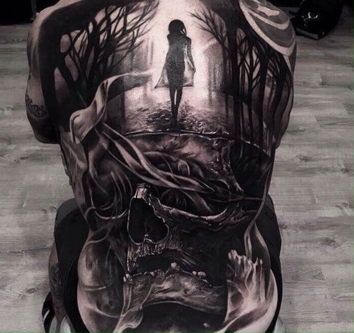 3d Back Tattoos