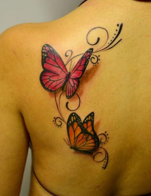 3d Butterflies Tattoos