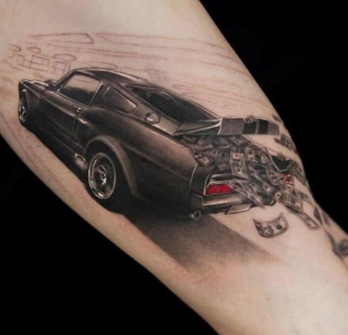 3d Car Tattoos Designs