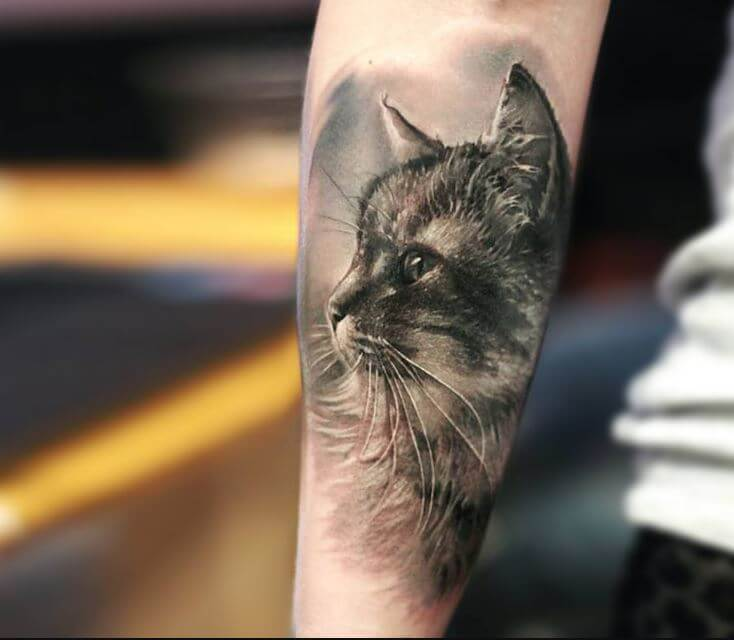3d Cat Tattoos