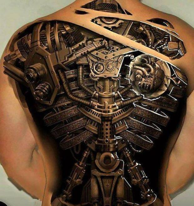 3d Full Back Tattoos