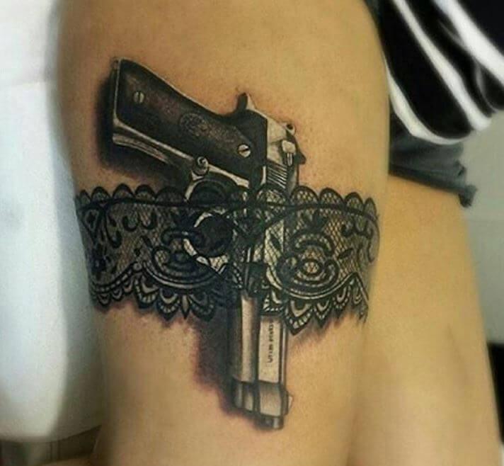 3d Gun Tattoos