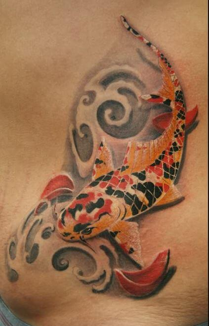 3d Koi Fish Tattoos