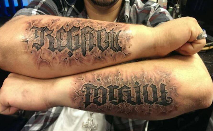 3d Letters Tattoos
