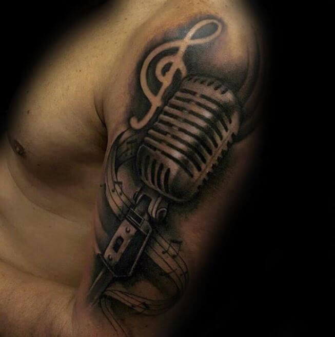 3d Music Tattoos