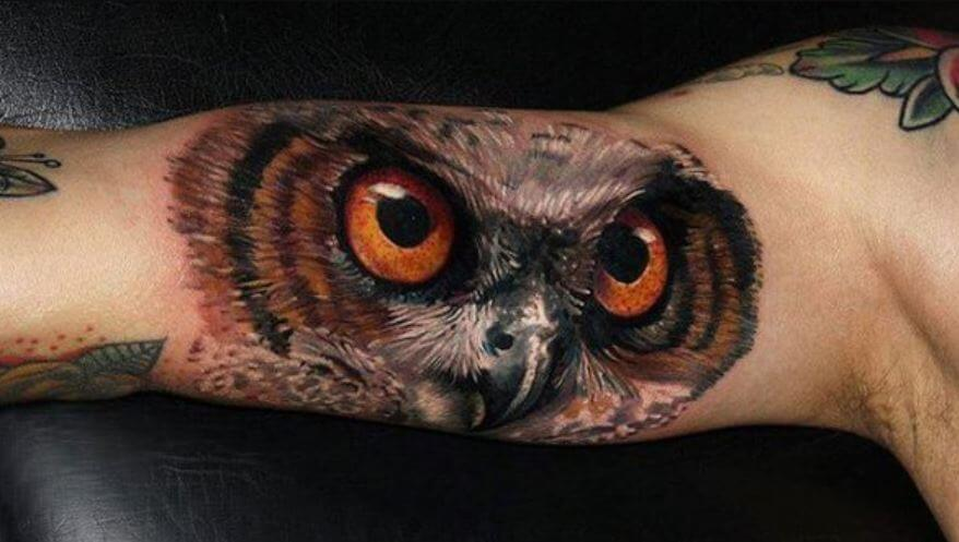 3d Owl Tattoos