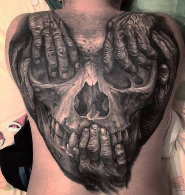 3d Skeleton Tattoos