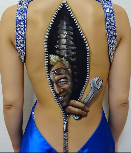 3d Spine Tattoos For Girls Back